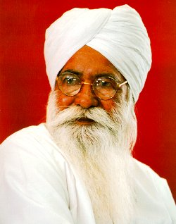 Sant Ji on a red  background