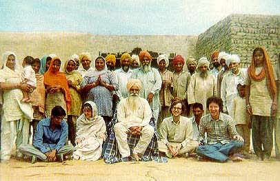 Sant Ji, 77RB Sevadars, and a few Westerners, 1976